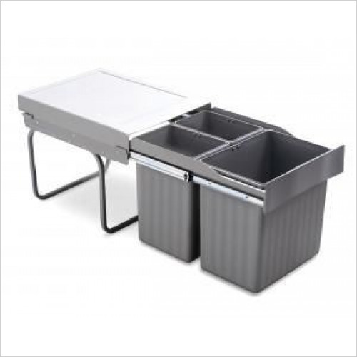 Mirano - Pull-Out Waste Bin, 1 x 16 Litre & 2 x 7.5 Litre