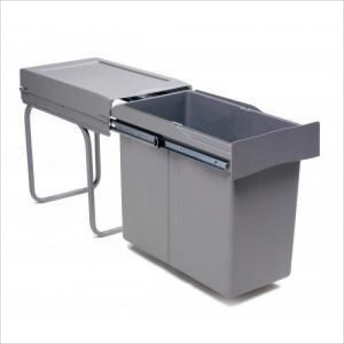 Mirano - Pull-Out Waste Bin, 30 Litre, Full Extension Runners