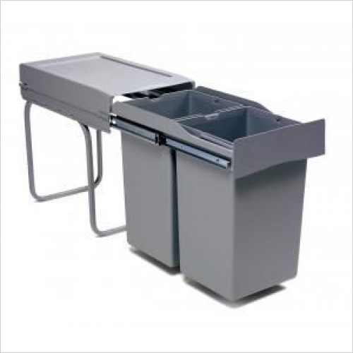 Mirano - Pull-Out Waste Bin, 2 x 14 Litre, Full Extension Runners