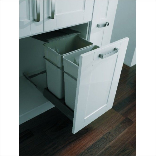 Mirano - Pull-Out Waste Bin, 2 x 35 Litre